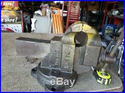 Large 4 Inch CHAS PARKER 974 Swivel Base Bench Vise