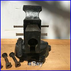 Large Chas Parker 974-1/2 Swivel Base Vise 1930