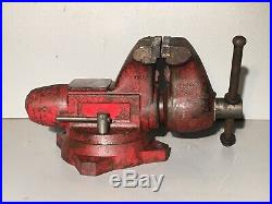 Large Wilton / Snap on Tools Bench vise 6 Jaws With Swivel Base Model 1760