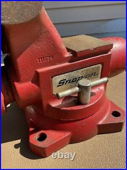 Large Wilton/Snap-on Tools Model 1760 Bench Vise 6 Jaws with Swivel Base