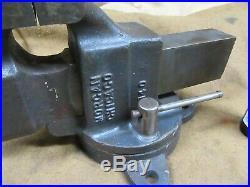 Morgan No. 140 Bench Vise, 4Jaw, Swivel Base, USAV. NICE #MV5.21.20