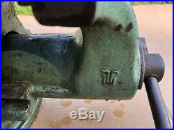 NICE HEAVY FPU VISE ON SWIVEL BASE 6 JAWS POLAND VISE 85 lbs