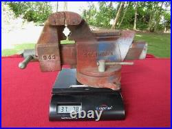 NICE! Vintage COLUMBIAN D45 Swivel Base Bench Vise With5 Jaws, WithAnvil, Horn. USA