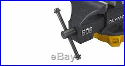 OLYMPIA 6 in Table Bench Vise Clamp Pipe Jaws Clamp Swivel Base Anvil Heavy Duty
