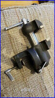 Poland Made Vise Wilton Baby Bullet Style Swivel Base Clamp On 2 7/16 Jaw Width