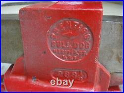 Prentiss Bull Dog Vise No 263-1/2 Swivel Base Vintage USA