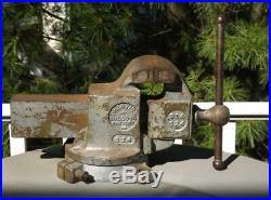 Prentiss Bulldog Bench Vise 524 514 4 Jaws 6 Opening Swivel Base 49 Lbs