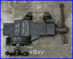 Prentiss Bulldog No 92 Swivel Base 4 Jaw Machinist Fabricator Bench Vise Vice
