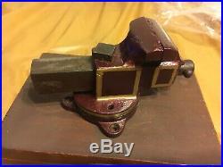 Prentiss Jewelers Vise Watchmaker 2in Jaws Vice Bench Mini Bulldog Swivel Base