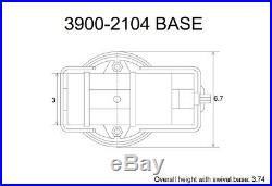 Pro-series Angle-tight Positive-lock 3 Milling Vise & Swivel Base (3900-2104)