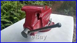 RARE! Vintage LARGE 5 Jaws Craftsman Bench Vise WithSwivel Base & Anvil 506-51811
