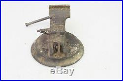 RARE Vintage Solid Brass Mini Bench Vise Swivel Base Unique