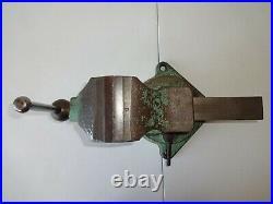 Rare Vintage 1930S Starrett Athol 624 4 Machinist Bench Vise With Swivel Base