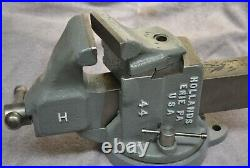 Rare Vintage Hollands # 44 swivel jaw bench vise with swivel base