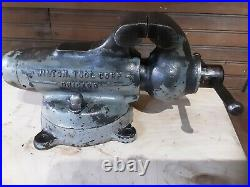 Rare Vintage Wilton 3 Vise Pat Pend. No. 3 Early 1940s With Swivel Base anvil