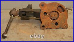 Reed 4 jaw swivel base bench vise No 204 collectible knife makers blacksmith