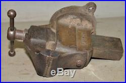 Reed Mfg swivel head & base vise 3 1/2 wide jaw 1914 patent model 403 1/2 USA