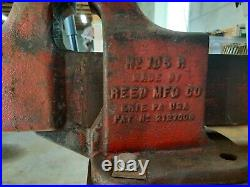 Reed Red 106 Vise, 6 jaw, non-swivel base, good condition