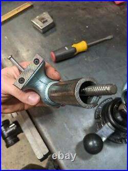 Restored 2 Inch Wilton Baby Bullet 925 Machinist Vise On Powrarm Jr Swivel Base