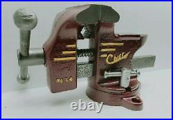 Restored Vintage CHIEF L4 Swivel base Vise, 3 3/4 Jaws with Anvil USA Made