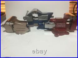 Restored Vintage Dunlap 5244 Air Force colors! 3 1/2inch Swivel Base Bench Vise