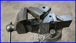 Rock Island Vintage Vise Swivel Base And Jaw 581 3 1/2 Jaws Excellent Condition