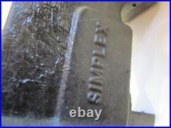 SIMPLEX Number 41 Bench Vise 4 Jaws Swivel Base Ridge Tool Co Elyria Ohio