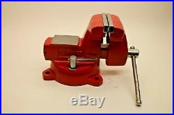 Snap-on 6 Bench Vise with Swivel Base & Pipe Jaws 5-3/4 Opening Made by Wilton