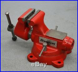 Snap-on / Wilton 5 Bench Vise with Swivel Base & Pipe Jaws 5-3/4 Opening 1750