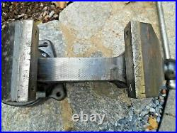 Starrett 644-1/2 Bench Vise, Swivel Base And Swivel Jaw, 4-1/2 Jaws, 80 Lbs
