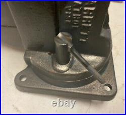 Starrett 644-1/2 Bench Vise, Swivel Base And Swivel Jaw, 4-1/2 Jaws, 80+ Lbs