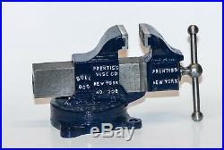 Super Rare Vintage Prentiss No. 207/208 swivel base vise. 2 jaws