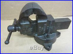 The Chas Parker Co. 973 Vintage Vise 3 Jaws Swivel Base 27lbs Vice