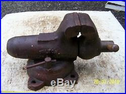 VINTAGE 1971 HEAVY 4 WILTON MACHINIST BULLET VISE WithSWIVEL BASE, USA
