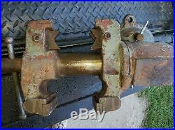 VINTAGE 80lb. Industrial Universal Bench Vise, Rotate, Swivel base. Amish Sale