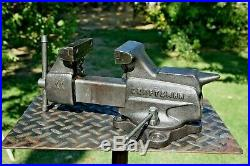 VINTAGE CRAFTSMAN 3-1/2 JAW BENCH VISE With SWIVEL BASE & PIPE GRIPS MADE IN USA