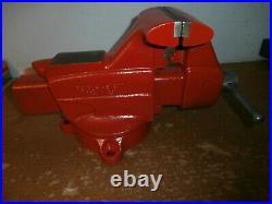 VINTAGE CRAFTSMAN #508-51811, 5 JAW BENCH VISE With SWIVEL BASE USA RESTORED