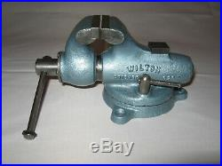 VINTAGE Wilton Baby Bullet #820 Chicago Vise with Raised Anvil & Swivel Base