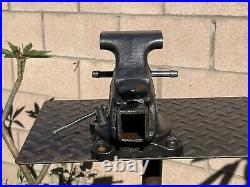 VTG. CRAFTSMAN 3-1/2 JAW BENCH VISE With SWIVEL BASE AND PIPE GRIPS MADE IN USA