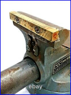 Vintage 1750 Wilton Bullet 5 Bench Vise Swivel Base & Pipe Jaw Made In USA