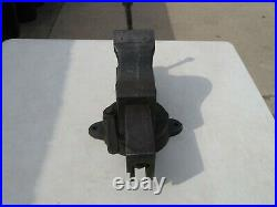 Vintage 1910 Chas Parker 293 X Swivel Base Vise 3-5/8 Jaws 8 Opening 62 Pounds