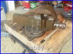 Vintage 1930 3 1/2 CHAS PARKER 978 1/2 Swivel Base Bench Vise Tool FREE SHIP
