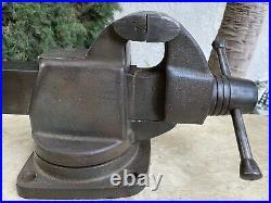 Vintage 1955 Craftsman 3-1/2 Jaws Bench Vise Swivel Base Model 05195 44 lbs