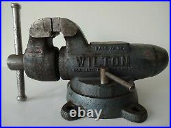 Vintage 1970s Wilton Machinist 3.5 Bullet Vise With Swivel Base