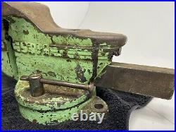 Vintage CHAS PARKER No. 63 1/2 Swivel Base Bench Vise with Anvil USA Tool