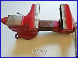 Vintage CRAFTSMAN 506-51801 BENCH VISE 3 1/2 Jaws Swivel Base Nice! NOS