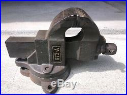 Vintage Chas Parker 973-A Vise With Swivel Base 3 Jaw
