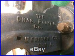 Vintage Chas Parker Company #87 3 1/2 Jaw Vise Swivel Base