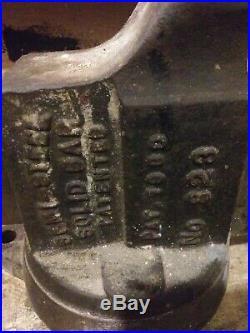 Vintage Chaz Parker Number 823 Pat 1900 Swivel Base 3 Inch Jaws Vise