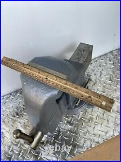 Vintage Columbian Bench Vise With Swivel Base Made In USA